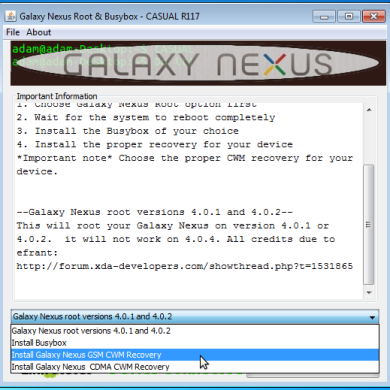 CASUAL Root and Recovery Method for the Galaxy Nexus