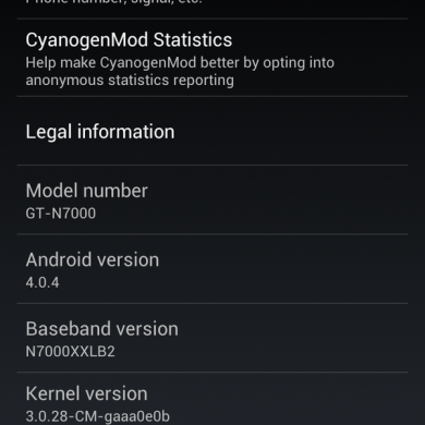 Official CM9 Nightlies Appear for the Galaxy Note GT-N7000