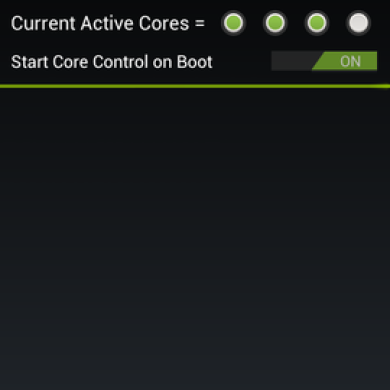 Take Control of Your HTC One X Cores with CoreControl