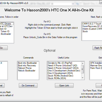 All-in-One Toolkit for HTC One X, One S, myTouch 4G Slide, Amaze 4G, Rezound, and Vivid