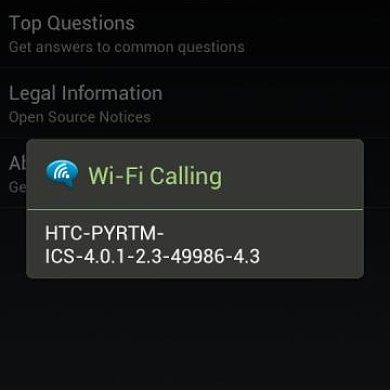 ICS WiFi Calling for T-Mobile Sensation Running Stock and AOSP