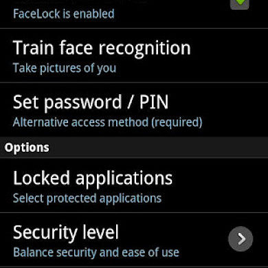 FaceLock Face Recognition App Locking for Gingerbread