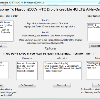 All-in-One Toolkit for the HTC Droid Incredible 4G LTE