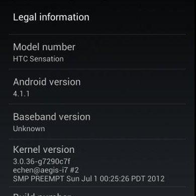 Jelly Bean Alpha for the Sensation and Amaze 4G