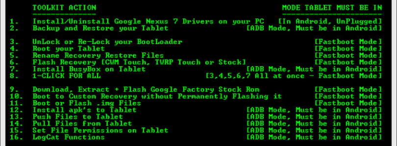 All-in-One Toolkit for the Google Nexus 7