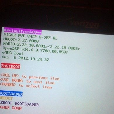 2.27 HBoot Unlocked on the HTC Rezound