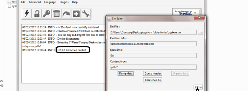 Easily Extract ICS System Files from Sony Xperia FTF Files