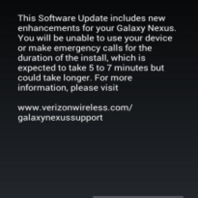 Verizon Finally Rolls Out Jelly Bean JRO03O to Galaxy Nexus