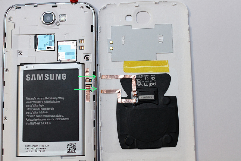 galaxy note ii wireless charging gets a no solder method. Black Bedroom Furniture Sets. Home Design Ideas