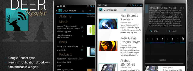 Deer Reader Brings Fresh Google Reader Experience