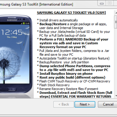 Samsung Galaxy S III Toolkit Now Supports I9305