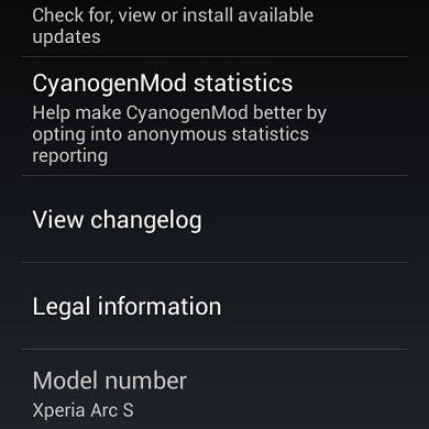 Unofficial CM10.1 for the Xperia Arc and Arc S