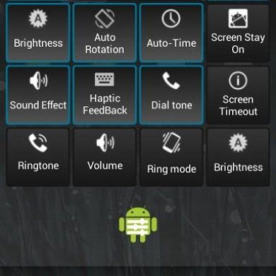 Android 4.2 Quick Settings Lookalike for the Galaxy S III