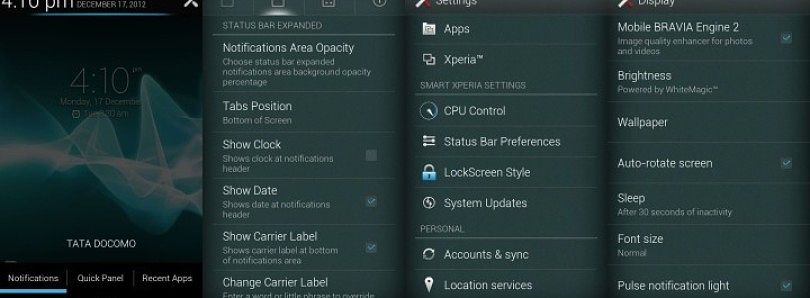 Smart Settings, AOSP Style Lock Screen, and More on Several Sony Xperia Devices