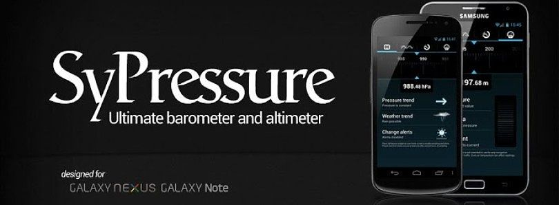 SyPressure Uses Barometer Readings to Tell Weather