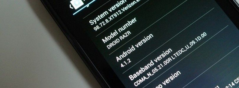 Accidental Jelly Bean 4.1.2 Leak for Motorola Droid RAZR