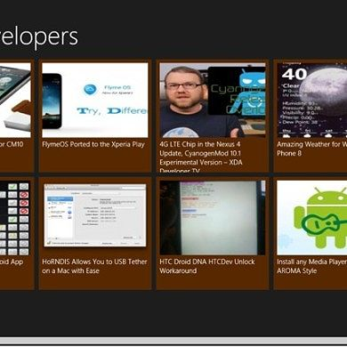 Unofficial XDA Portal RSS App for Windows 8
