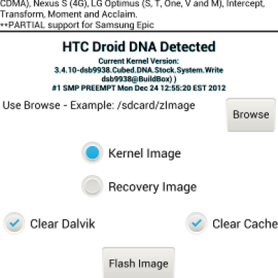 Flash Image GUI Adds Support for the HTC Droid DNA