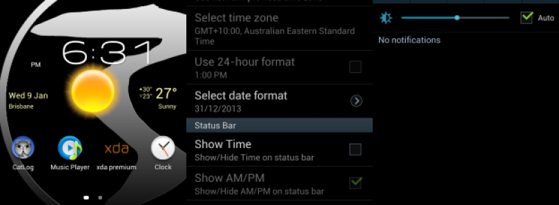 Customize Your Galaxy S III Statusbar Clock with Settings Mod