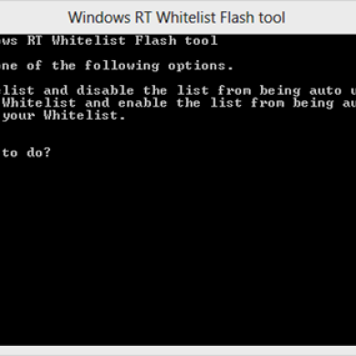 Windows RT Whitelist Tool Provides Quick, Easy Way to Enable Flash for Certain Sites