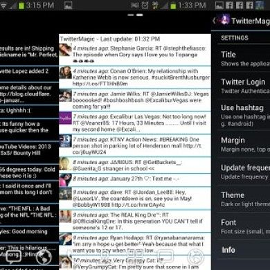 Facebook and Twitter Updates on Your Home Screens with Facebook and Twitter Magic