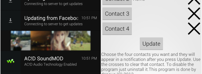 Access Important Contacts with ContactsNotification