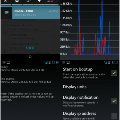 Easily View Your Android Network Statistics