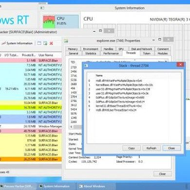 Get Detailed System Information With Process Hacker For Windows RT