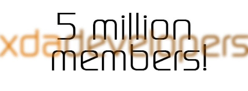 XDA Hits 5 Million Members!