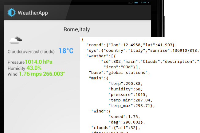 Weather App By Example Teaches Json Http And Api Use
