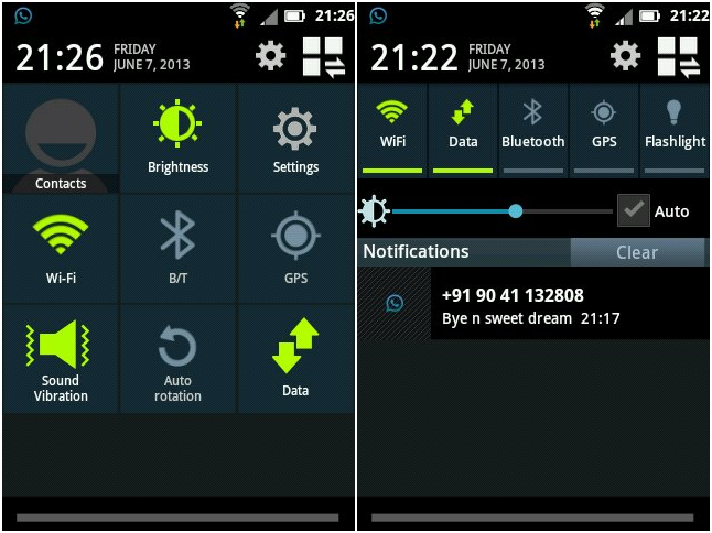 Get The Android 4 2 2 Status Bar On Your Gingerbread Based