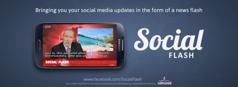 News-Like Social Media Updates with Social Flash