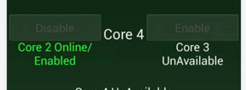 Quad Core Manager for Increased Battery Savings