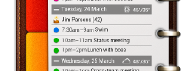 More Information at a Glance with All-in-One Agenda Widget