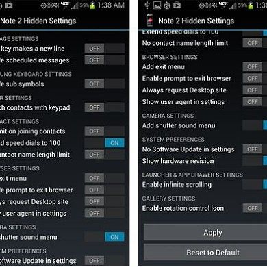 Enable Hidden Options on the Galaxy Note II with a CSC Editor