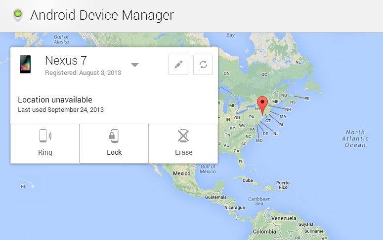 how to go to device manager in android