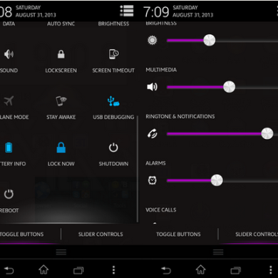 Status Bar Flipper and Navigation Bar Editor for Xperia T and V