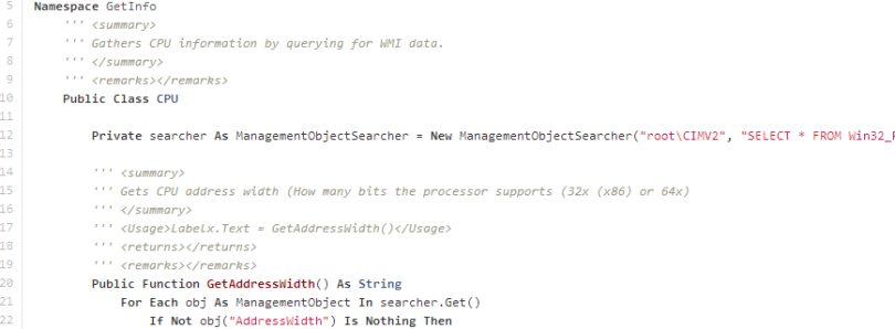 Retrieve System Info with Open Source SysLib for .Net Apps