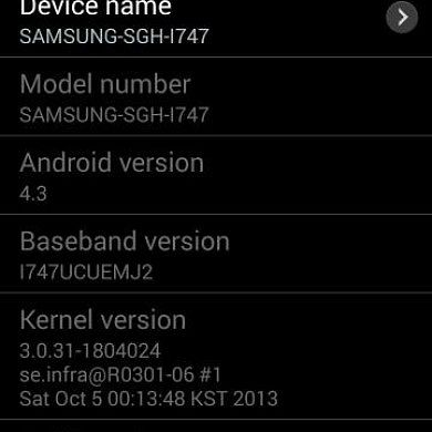 Leaked Android 4.3 (UCUEMJ2) Update for Galaxy S III I747