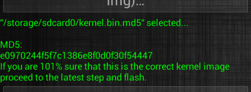 Online Flashing with Universal Kernel Flash Tool