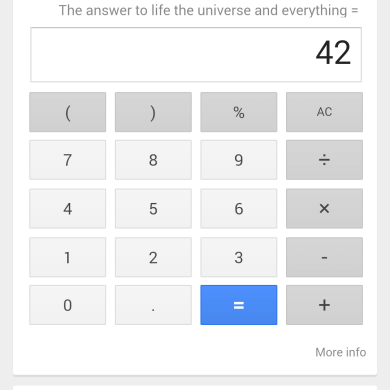 Collection of Google Now Easter Eggs