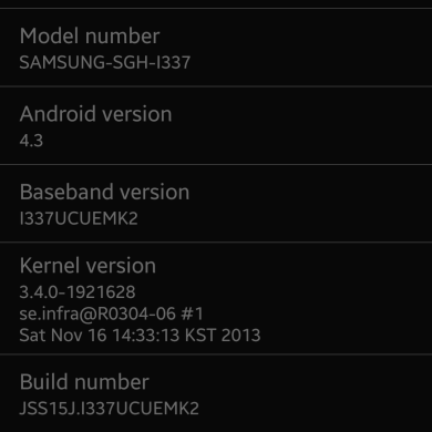 Android 4.3 Returns to the AT&T Galaxy S 4, OTAs Captured