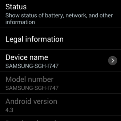 Android 4.3 Rolling out to AT&T and T-Mobile Galaxy S III, AT&T Update Captured