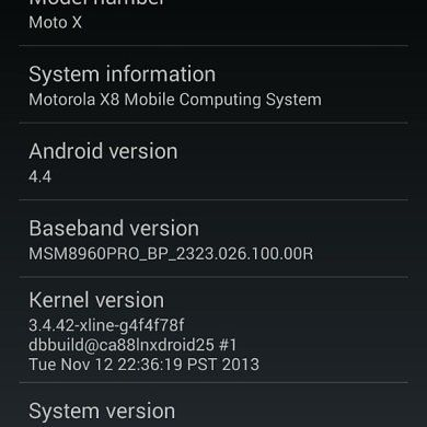 AT&T Pushes Android 4.4 KitKat to Moto X