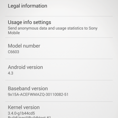 Android 4.3 Leaked for the Sony Xperia Z and ZL