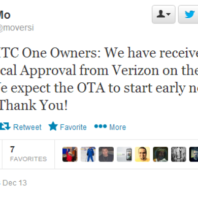 Verizon HTC One to Receive Official Android 4.3 OTA Next Week, Strangely no Sense 5.5