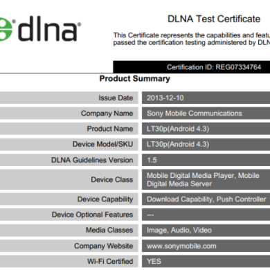 Official Android 4.3 for Xperia SP, T, TX, and V Certified by DLNA, Likely Coming Very Soon