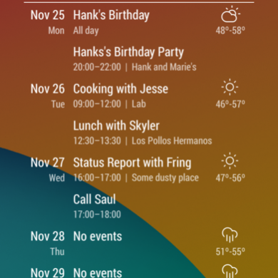 Event Flow Calendar Widget is a Really Good Looking Calendar Widget