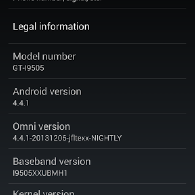Official OmniROM Nightlies for the Samsung Galaxy S 4 LTE