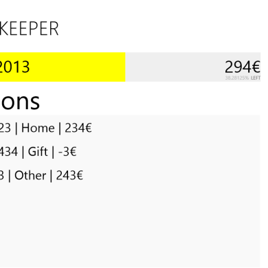 Costs Keeper Helps Keep Track of Your Budget on Your Windows Device